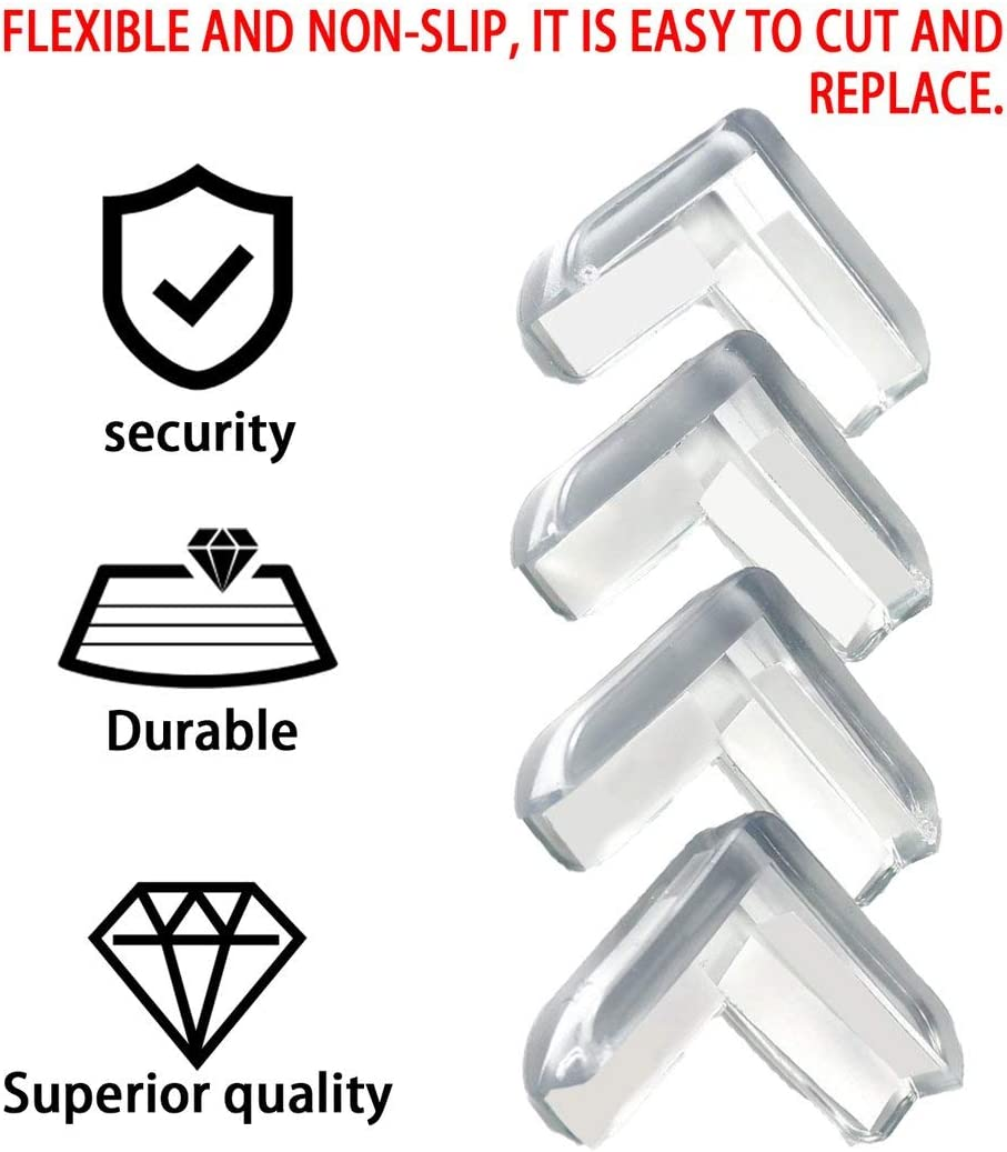 Shengerm 4pcs Baby Child Safety Protect Table Desk Corners Cushion Guard Bumper Thickened Guard Mat Safe Crash Protection Cover Pads