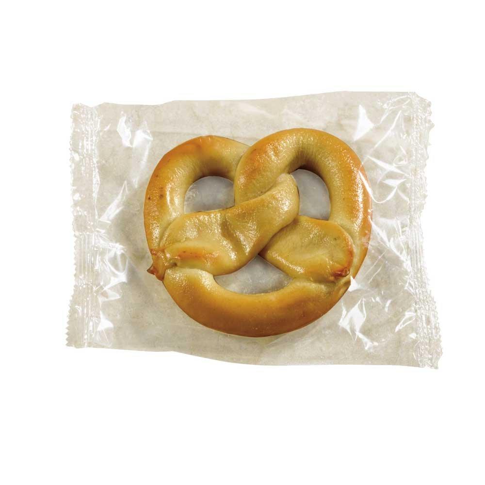 SuperPretzel 51 Percent Whole Grain Junior Cheese Soft Pretzel, 3.3 Ounce -- 50 per case.