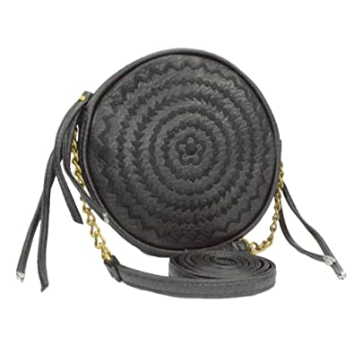 30c801fab1 Amazon.com  Faux Leather Boho Circle Crossbody Bag