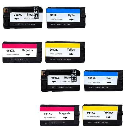 colour-store 8 unidades de repuesto para HP 950 X L 951 X L ...