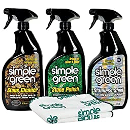 Simple Green Countertops and Stainless Steele Refrigerator Specialty Care Kit, 32 oz Trigger Spray