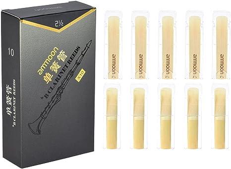 ammoon Cañas de Clarinete Bb de Alto Grado Palos de Bambú para Clarinete (Fuerza 2.5): Amazon.es: Instrumentos musicales