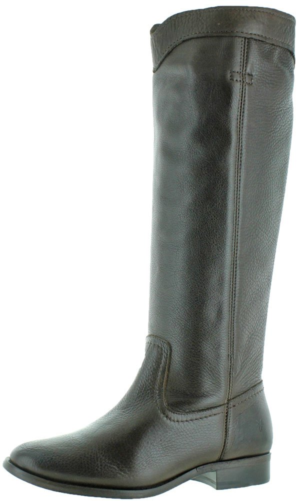 Frye Women's Cara Roper Mid Calf Boot Round Toe Chocolate 9 M
