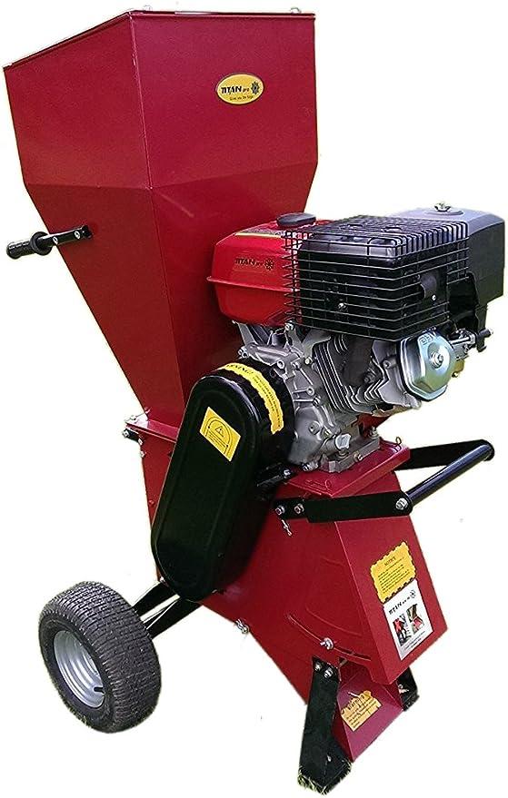 Trituradora para jardín | 15HP Pull Start | gasolina Titan Pro: Amazon.es: Hogar