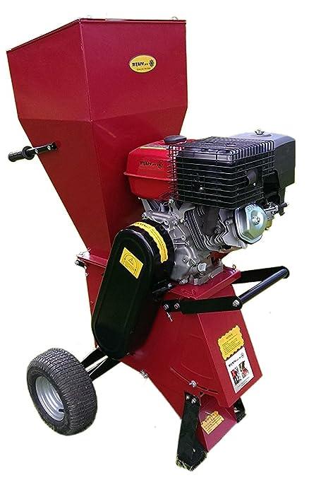 garden mulcher. Garden Chipper Shredder | 15HP Electric Start Mulcher Petrol Titan Pro T