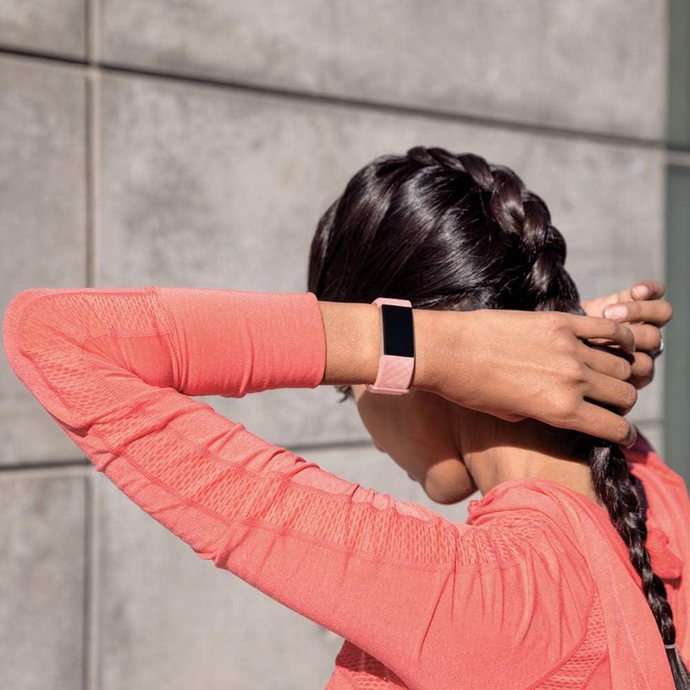 nessun Tracker ,S//L IFREE Cinturino Compatibile per Fitbit Charge 3 // Charge 4 Cinturini Sportivi Cinturini per Donna Uomo Regolabile Silicone Braccialetto