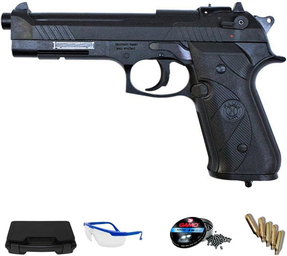PACK pistola de aire comprimido Kimar AG92 - Arma de CO2 y balines (perdigones de plomo) <3,5J