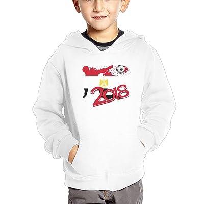 2018 Football Match Egypt Girl Kids Cotton Sweatshirts Casual Hooded Hoodies with Pocket