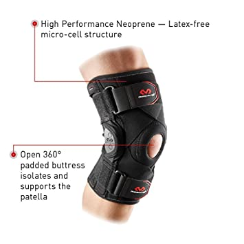 3ac044bb80 McDavid Knee Support Brace with Polycentric Hinges for Men and Women,  perfect for a sport