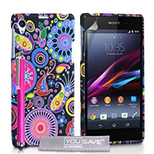 Sony Xperia Z1 Case Jellyfish Silicone Gel Cover With Stylus Pen