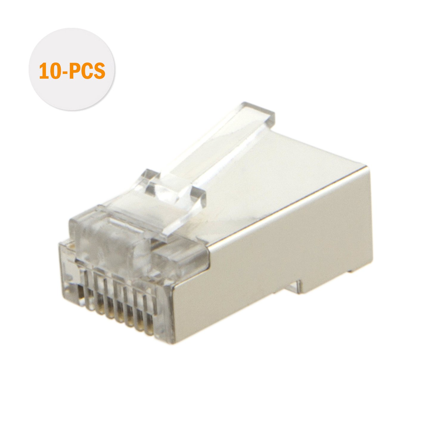 Cablecreation 100 Pack Cat 6 Rj45 Connector Shielded Wiring On Ftp Cat5 Cat5e Solid Cable China Network Plug For Wire And Standard Transparent Computers Accessories