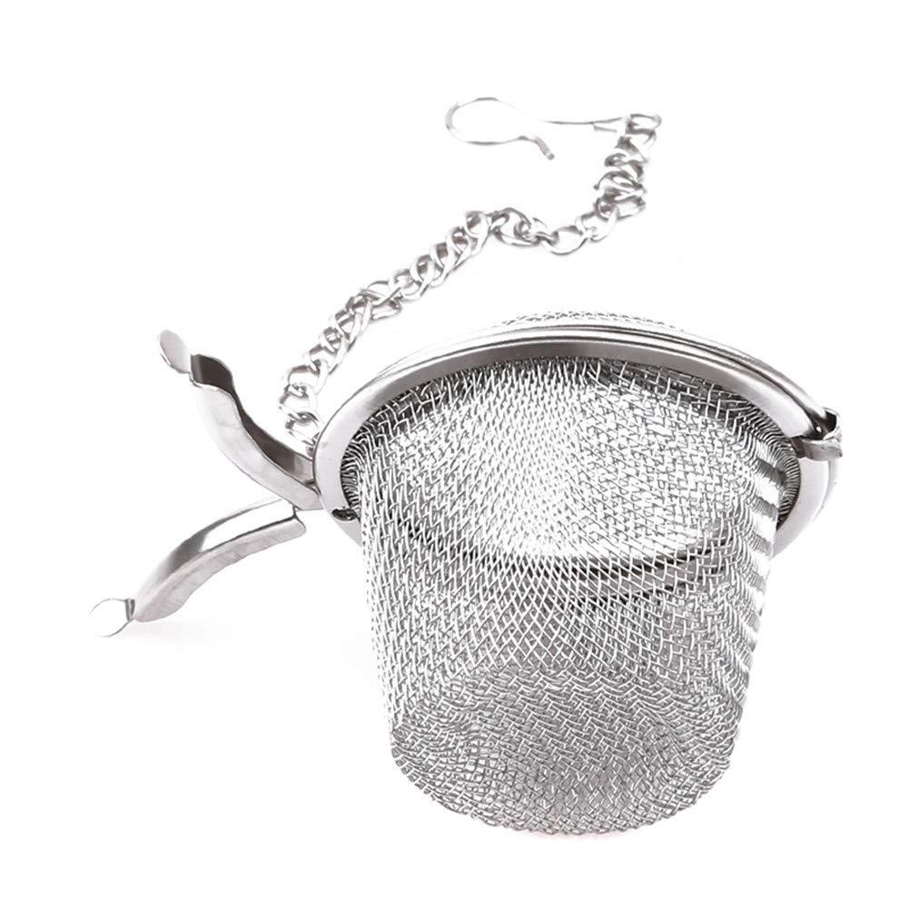 SKRRDCY Stainless Steel Sphere Locking Tea Ball Strainer Mesh Infuser Tea Filter Tea Leaf Strainer Herbal Spice Filter Diffuser