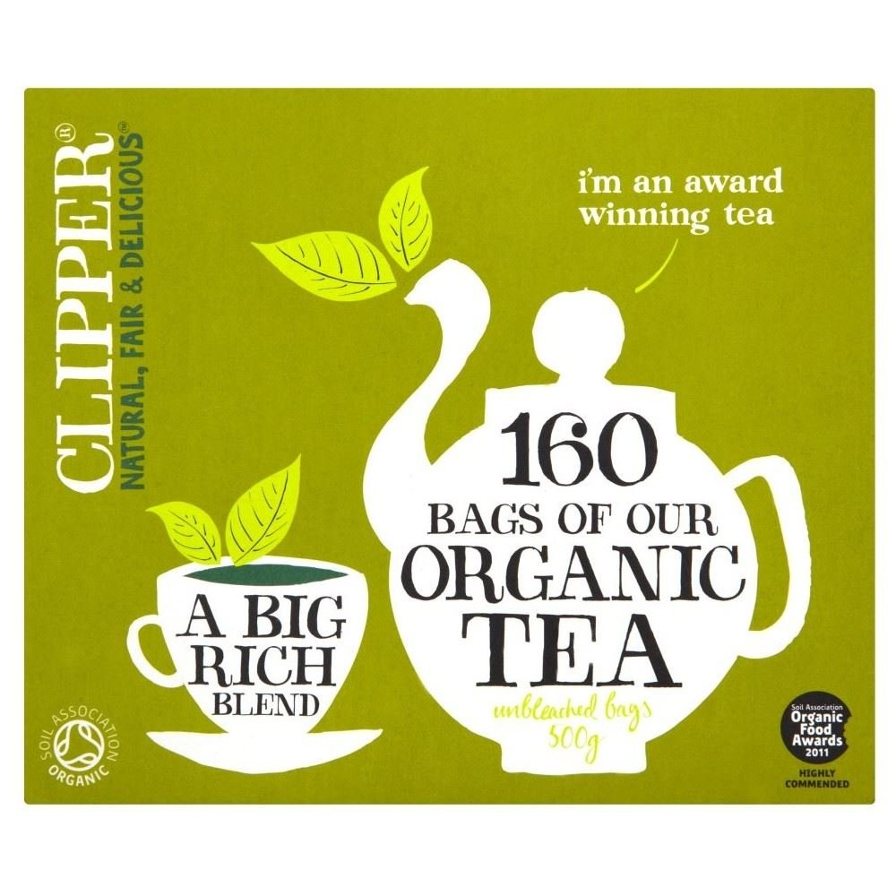 Clipper Organic Everyday Tea Bags (160) - Pack of 6