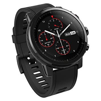 Amazfit Stratos Multisport Smartwatch with Vo2Max, Heart Rate, Activity Tracking, Gps, 5 Atm Water resistance (Black) Sports Gadgets at amazon