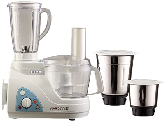 Buy Usha Food Processor (2663) 600-Watt with 3 Jars (White) Online at Low Prices in India - Amazon.in