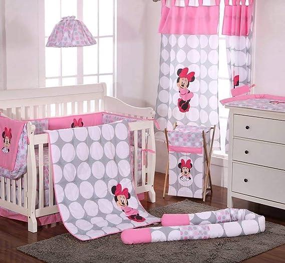 Disney Baby Minnie Mouse lunares 4 piezas cuna juego de cama ...