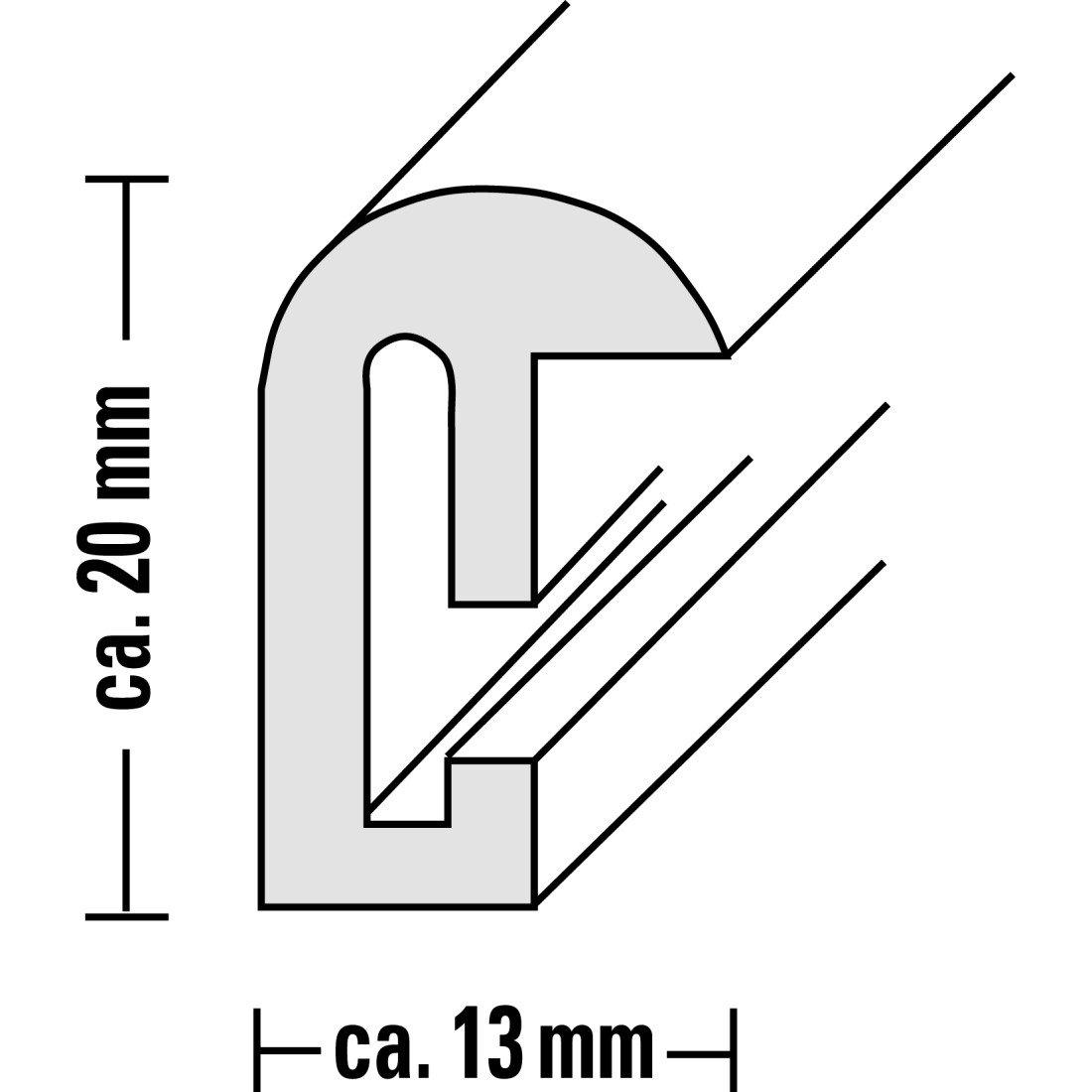 40 x 60 cm 66228 Cadre en plastique Sevilla noir Hama
