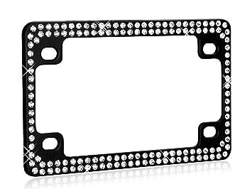 valor lpf2tk030wit crystal motorcycle license plate frame