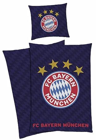 Fc Bayern München Bettwäsche Fcb 135x200 80x80cm Amazonde Küche