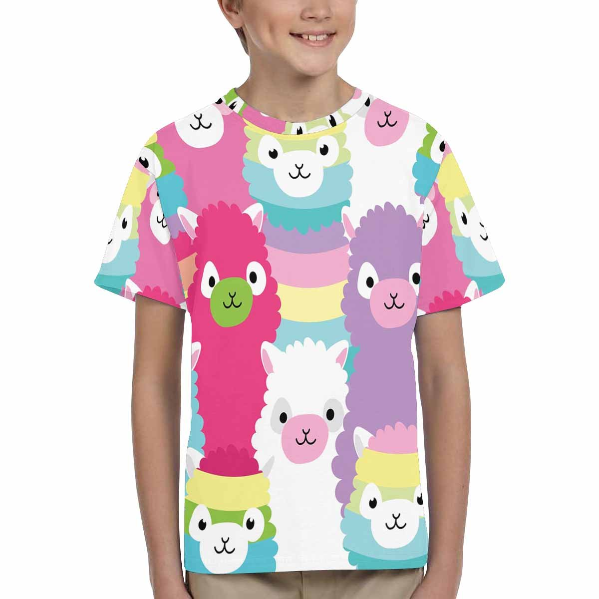 XS-XL INTERESTPRINT Alpaca Family Portrait Unisex Kids T-Shirts