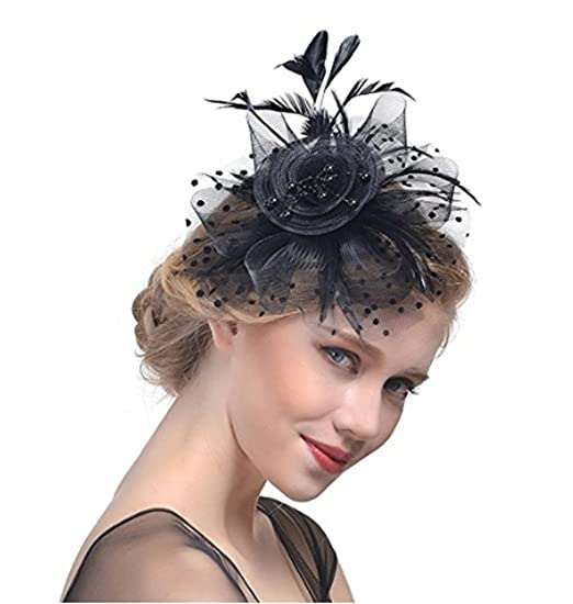 Ladies Flower Mesh Hat Fascinator Hair Accessories Party Out Wedding New