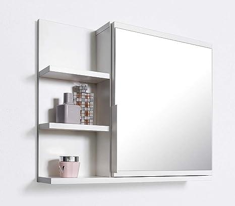 Domtech Badezimmer Spiegelschrank Mit Ablagen Badezimmerspiegel Weiss Spiegelschrank L Amazon De Kuche Haushalt