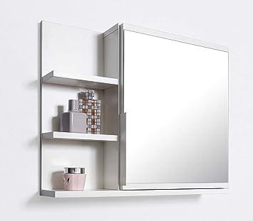 DOMTECH Badezimmer Spiegelschrank mit Ablagen, Badezimmerspiegel ...