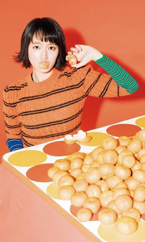 吉岡里帆 こたつでみかんを食べる FVGA(480×800)壁紙画像