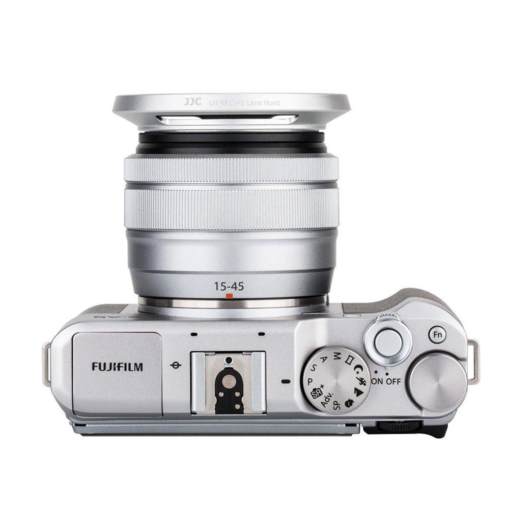 Jjc Gegenlichtblende Fr Fujinon Elektronik Fujifilm X A5 Kit 15 45mm 35 56 Ois Pz Xf35mm F2 Silver