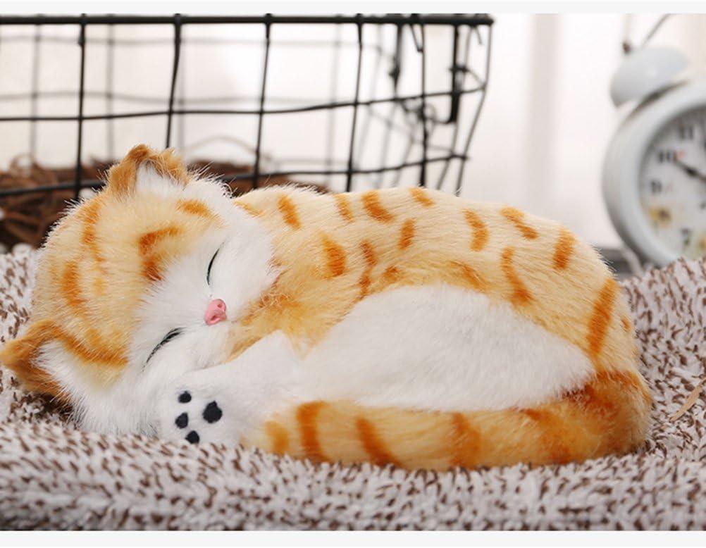 Winomo Aktivkohle Geruchsvernichter Für Autos Simulation Tier Dekoration Plüsch Spielzeug Für Auto Zuhause Büro Orangefarbene Katze Drogerie Körperpflege