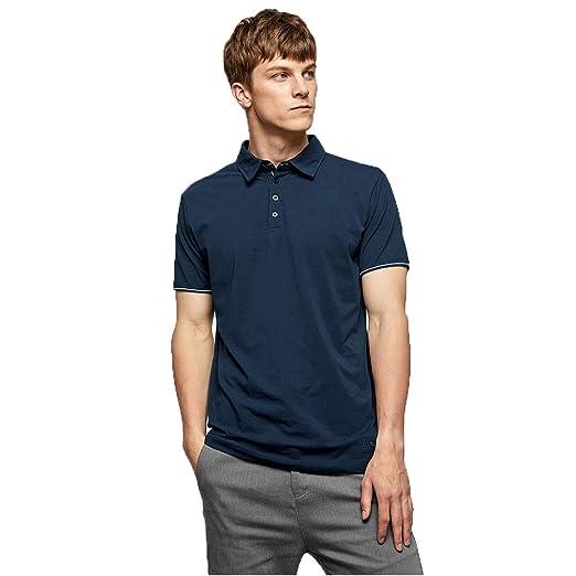 LiXiZhong Polo De Algodón para Hombre - Camiseta De Manga Corta ...