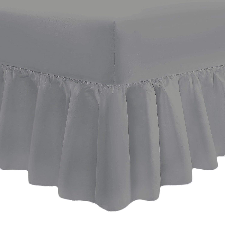 bemode Sábanas bajeras ajustables de color liso, protector de colchón de fácil cuidado, para cama individual, doble, súper king, cuna, algodón mixto, azul marino, 121 cm Perfect Textiles