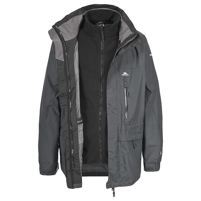 Trespass - Chaqueta / Abrigo impermeable 3 en 1 Modelo Edgewater para hombre caballero (M