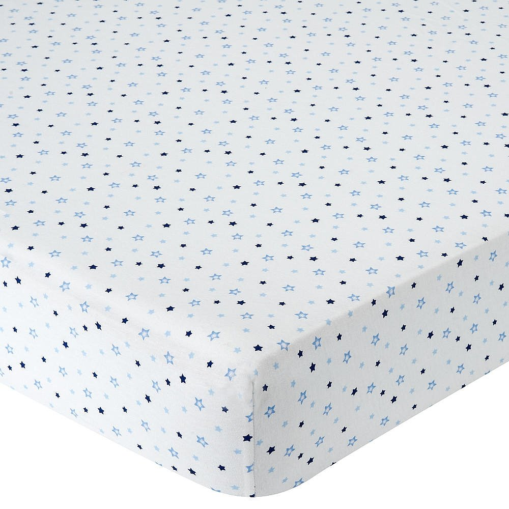 Babies R Us Knit Crib Sheet - Blue Star by Babies R Us   B00CXVJJ9C