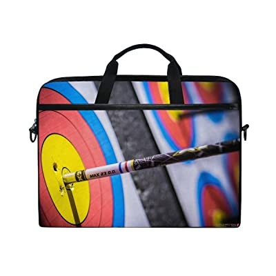 Sport Summer Archery Sport Race Man Commercial Stylish Awesome Laptop Shoulder Messenger Bag Case Sleeve For 14 Inch To 15.6 Inch With Adjustable Notebook Shoulder Strap