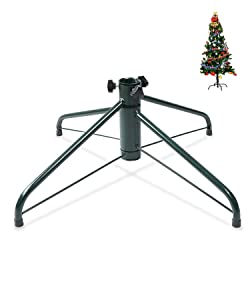 "ELFJOY Christmas Tree Stand 19.7"" Iron Metal Bracket Fits 1.26"" Pole Rubber Pad with Thumb Screw"