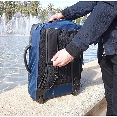 Nettuno Blue Bagage//Valise Conforme /à la r/églementation a/érienne. Bagage /à Main Hybride /à roulettes//Bagage Convertible en Sac /à Dos et Sac /à Main