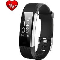 Fitness tracker, Montre Connectée Smart Bracelet tracker d'activité moniteur de fréquence cardiaque Fitness Health Smartwatch Bracelet Bluetooth Podomètre Avec Moniteur de Sommeil/Step Tracker/Compteur de Calories pour Android et iOS Smartphone(Noir) - iPosible
