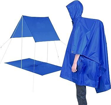 Regenjacken Unisex Regenmantel Ponchos Regenbekleidung f/ür Bergsteigen Reisen Freizeit Regenmantel JEEZAO Multifunktional Wasserdichter Regenponcho