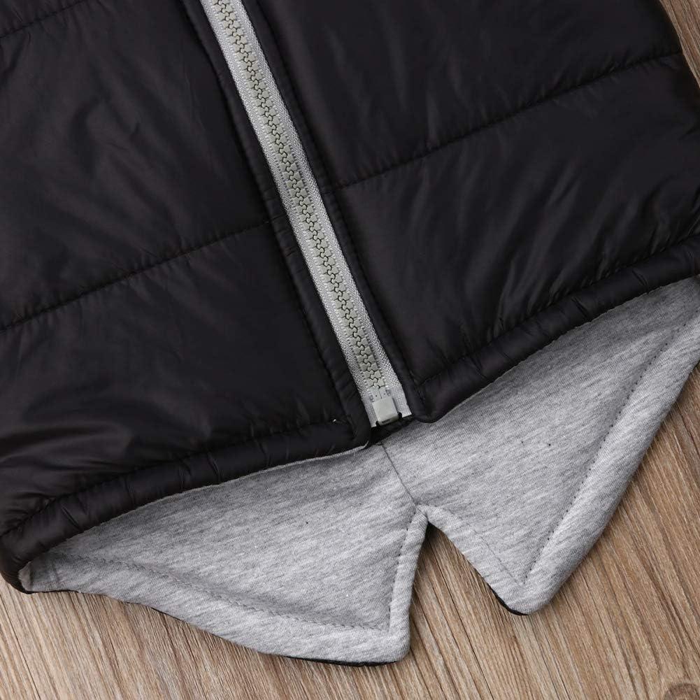 Unisex Infant Boys Girls Casual Warm Plaid Waistcoat 1-5 Years Old Sleeveless Zipper Winter Outwear Vest Coat
