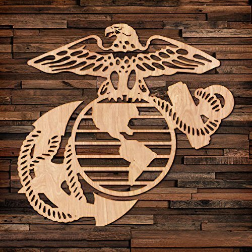 Marine Corps wood hanging wall art