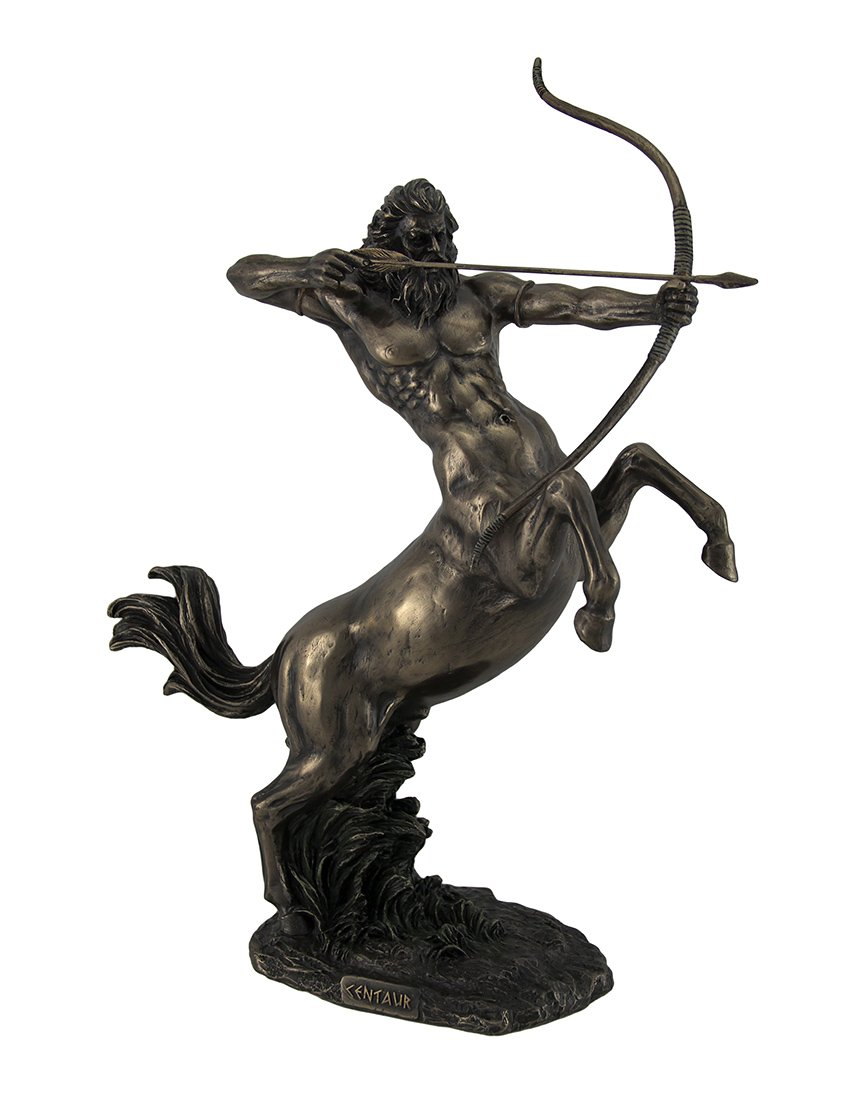 Resin Statues Rearing Centaur Shooting Arrow Bronze Finish Statue 14 Inch 10.5 X 14 X 4.25 Inches Bronze