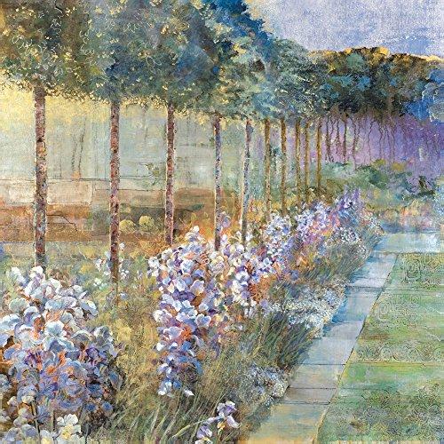 Portfolio Canvas Decor 35X35-Inch Printed Wall Art Painting, Large, Morning Irises by Michael - Landscapes Longo Art