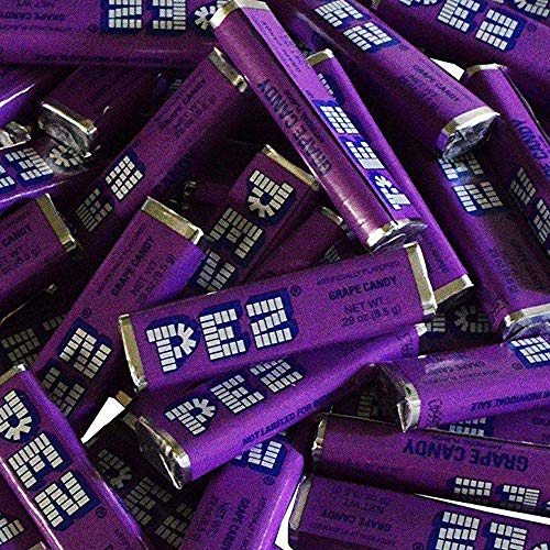Pez Candy Single Flavor 2 Lb Bulk Bag (Grape) Purple Candy ()