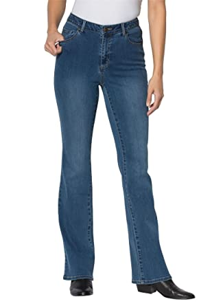 Women's Plus Size Ultra Stretch Flared Tall Jeans at Amazon ...