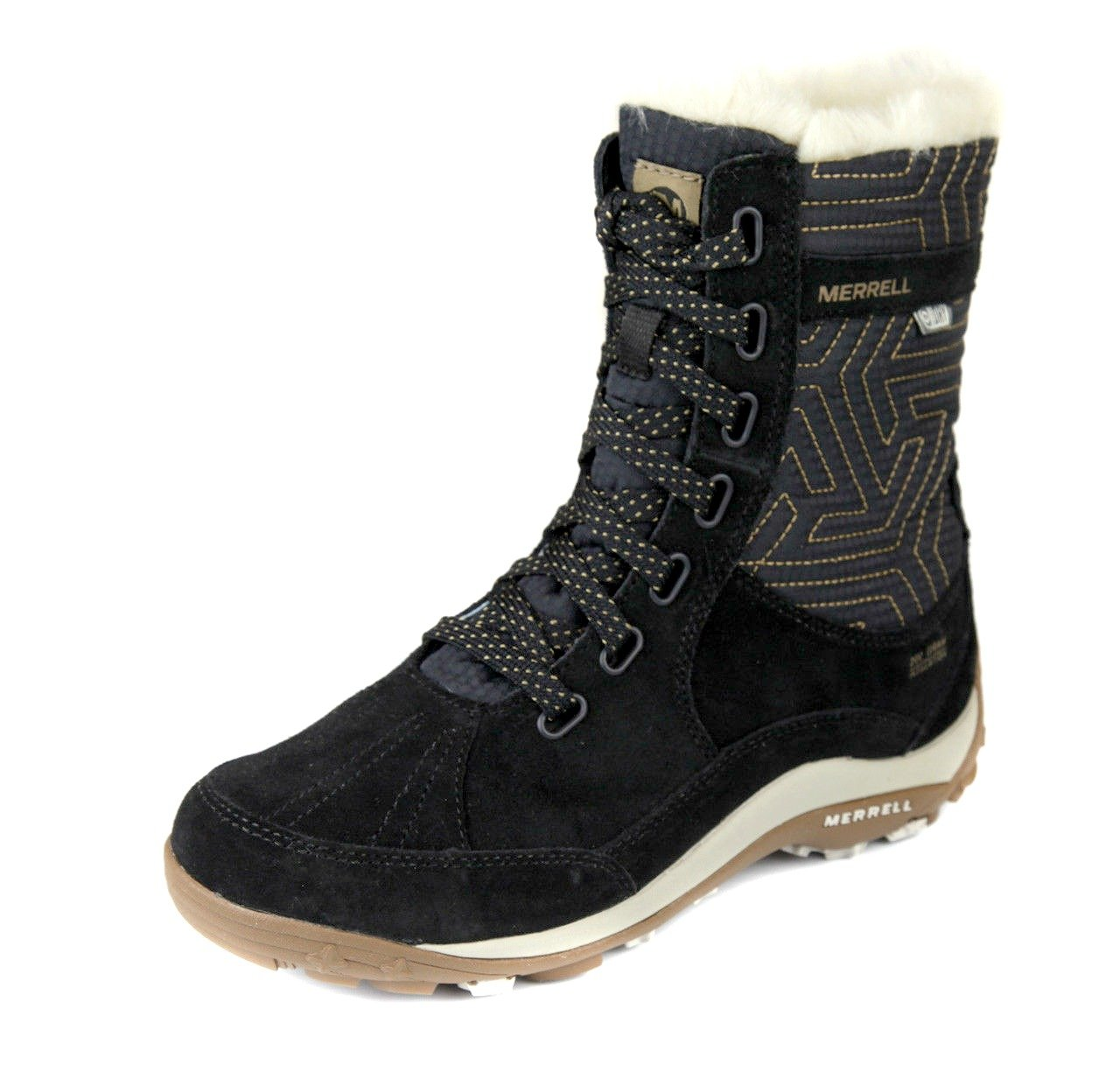 Merrell Womens Elemount Tall Thermo Lace Up Waterproof Boot (9, Black)