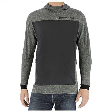 dae4900be7a4 adidas outdoor Men s Terrex Solo Wool Hoodie Dark Grey Sweatshirt at ...