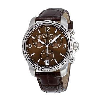 Certina - Reloj de Cuarzo para Hombre, correa de Cuero color Marrón: Amazon.es: Relojes
