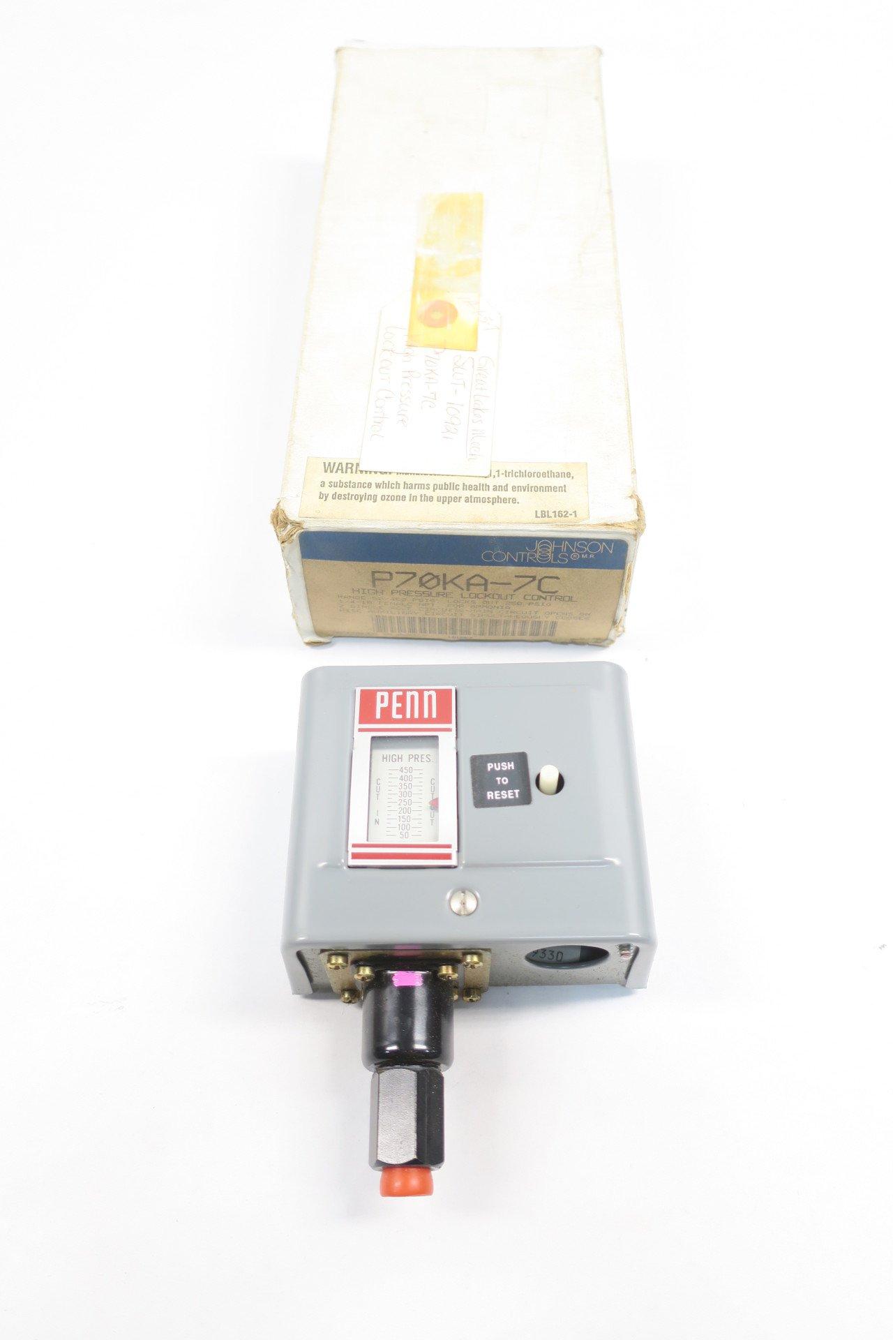 NEW JOHNSON CONTROLS P70KA-7C HIGH PRESSURE CONTROLLER D587784
