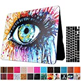 Macbook Air 13'' Case and Keyboard Protector, AICOO YCL 2 in 1 Beautiful Pattern Hard Case Cover With Keyboard Cover Skin For MacBook Air 13.3 inch (A1466/A1369) - Colour Eyes